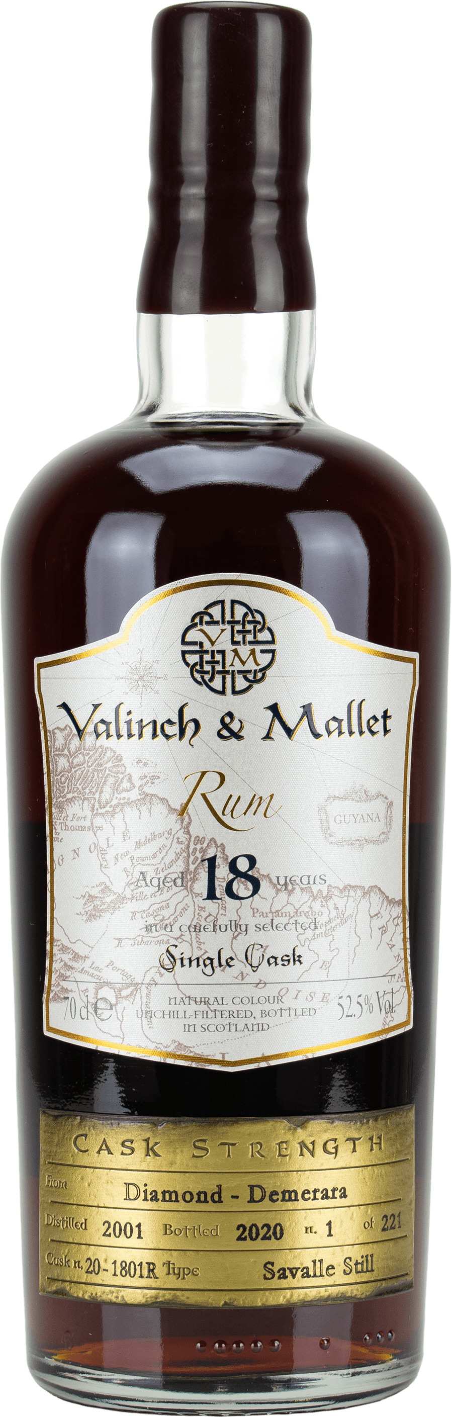 Diamond 18 label Valinch & Mallet Traditional Rum