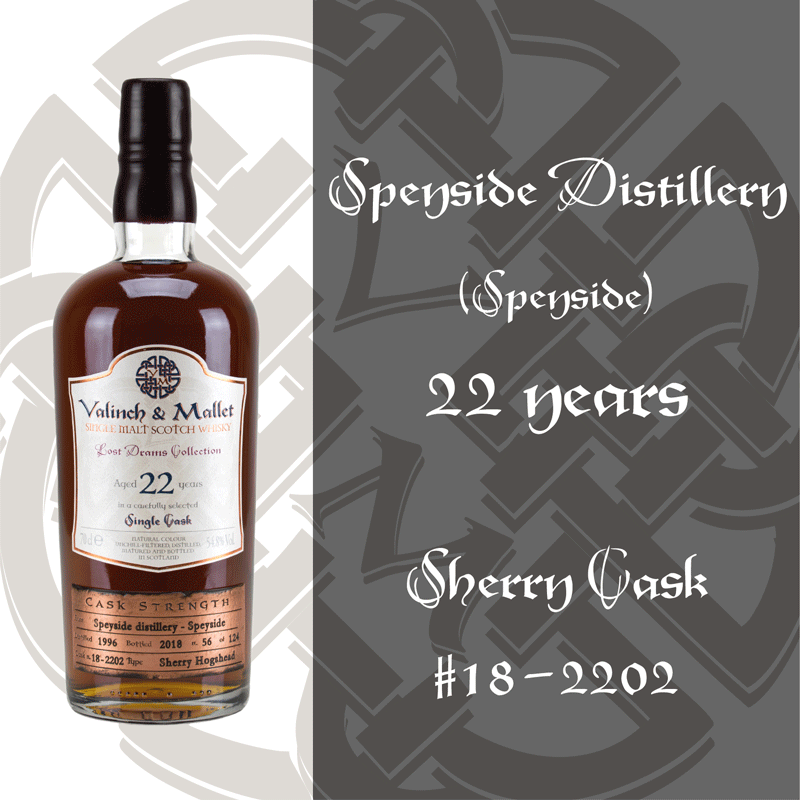 Speyside 22 Valinch & Mallet Single Malt Scotch Whisky