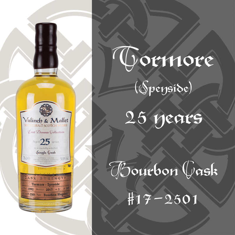 Tormore 25 Valinch & Mallet Single Malt Scotch Whisky